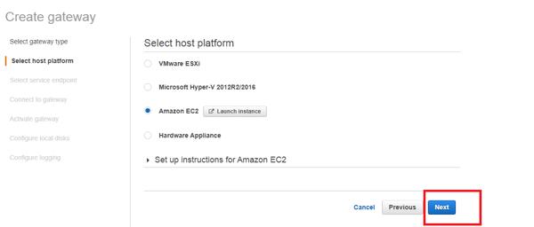 select host platform