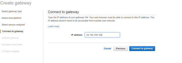 connect to gateway