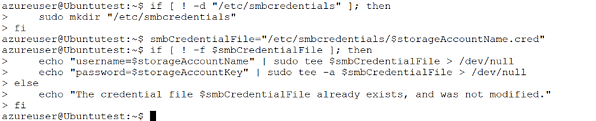 Replace <credentialpath> with a path name for the credential file and the <credentialfilevariable> with a variable name to store the path name.