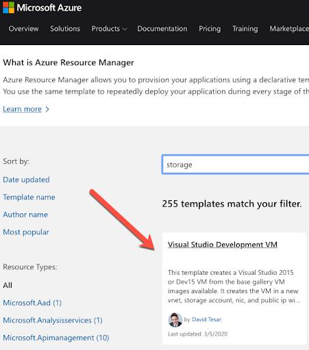 Visual Studio Development VM