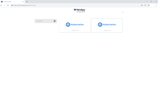 By default, the cluster will be created with the latest version of the Kubernetes service.