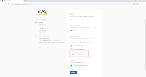 "In the "" Configure Your Provider"" window, enter details specific to your AWS account."
