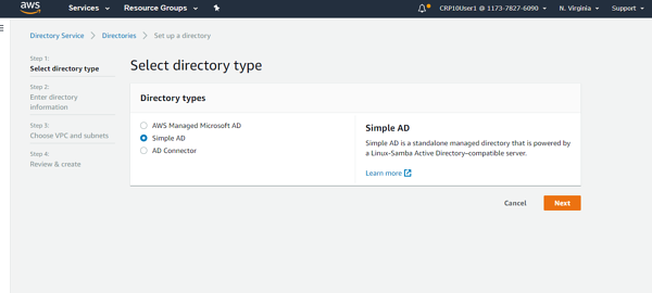 select directory type