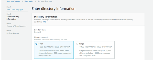 enter directory information