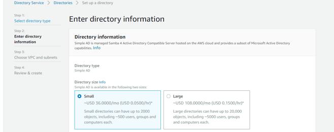 enter directory information