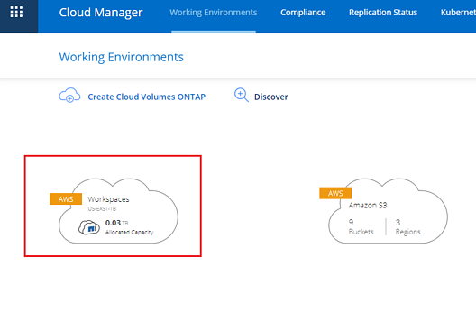 cloud manager working environments
