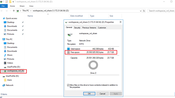 Share to the Z: drive on your VDI desktop: