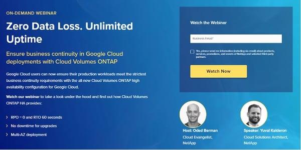 On-Demand webinar - Zero Data Loss. Unlimited Uptime.